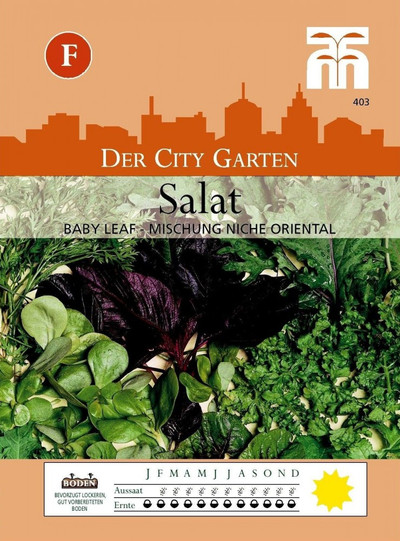 Salatsamen - Salat (Babyleaf) - Niche Oriental Mixed von Thompson & Morgan