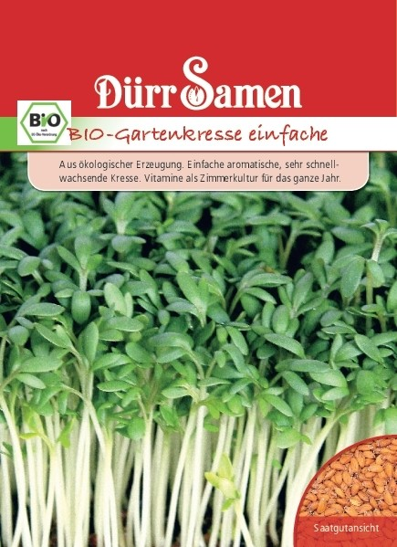 Dürr BIO Gartenkresse einfache Samen