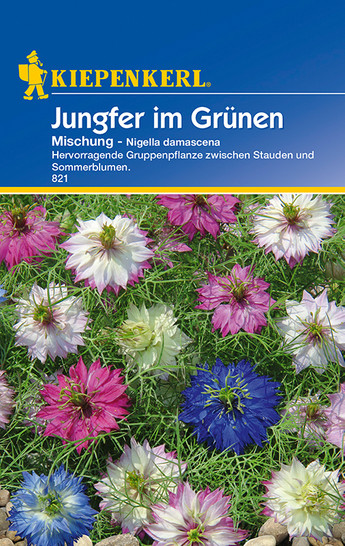 Jungfer im Grünen Mischung | Jungfer-im-Grünensamen von Kiepenkerl