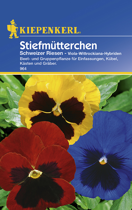Kiepenkerl Saatgut Stiefmütterchen ca 50 Pflanzen