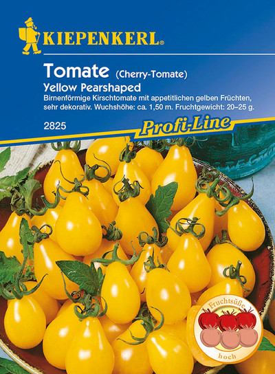 Obsttomate Yellow Pearshaped | Obsttomatensamen von Kiepenkerl
