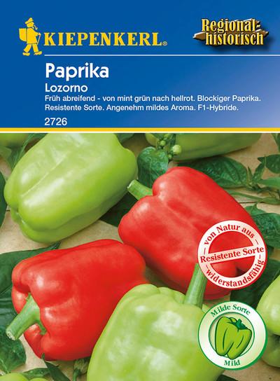 Paprikasamen - Paprika Lozorno F1 von Kiepenkerl
