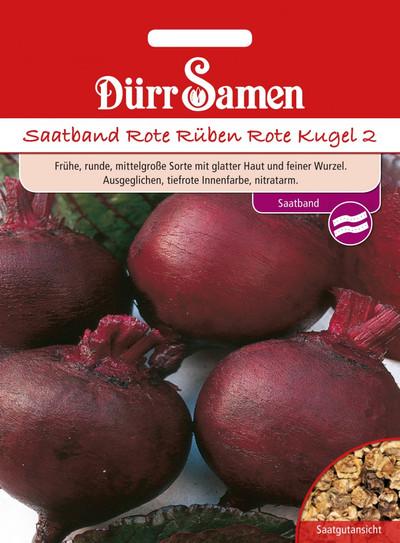 Rote Rüben Rote Kugel Saatband | Rübesamen von Dürr Samen