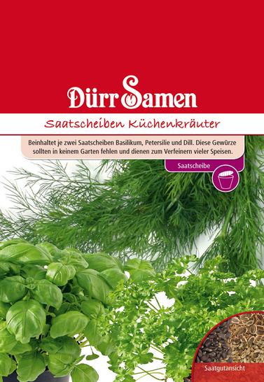 Küchenkräuter Saatscheiben | Kräutersamen von Dürr Samen [MHD 12/2019]