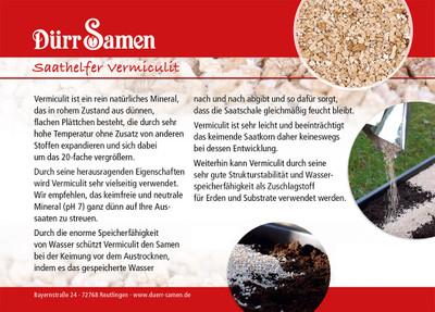 Aussaathelfer Vermiculite 400 g | Anzuchtzubehör von Dürr Samen