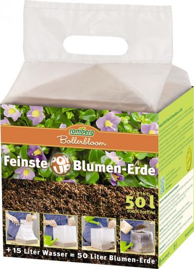 POP UP Blumenerde 50 Liter Premium Kokos-Substrat, 5 x 10 Liter Blöcke | Blumenerde von Romberg