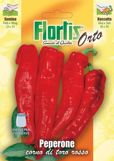 Roter Paprika Stierhorn Corno Di Toro Rosso | Paprikasamen von Flortis