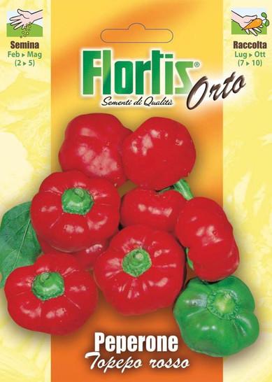 Rote Paprika Topepo | Paprikasamen von Flortis