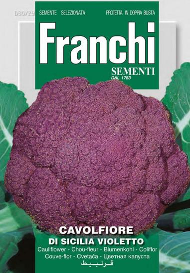 Blumenkohl Di Sicilia Violetto | Blumenkohlsamen von Franchi Sementi