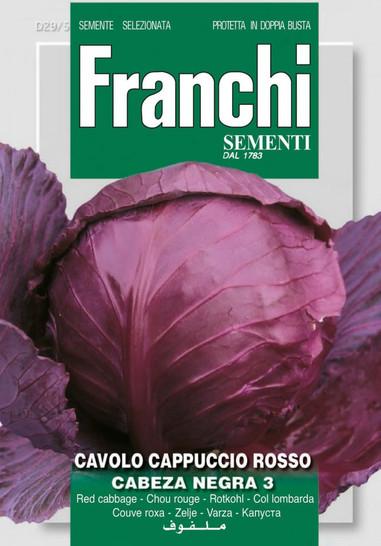 Kohlsamen - Rotkohl Cappuccio Rosso Cabeza Negra 3 von Franchi Sementi