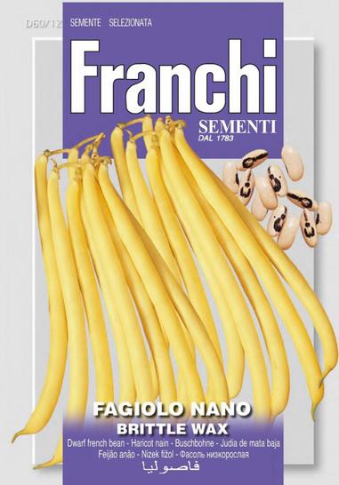 Bohnensamen - Buschbohne Brittle Wax von Franchi Sementi