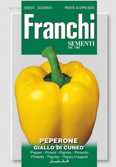 Paprikasamen - Paprika Giallo Di Cuneo von Franchi Sementi