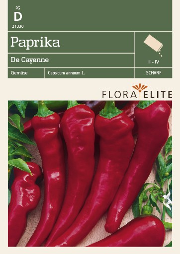 Paprika De Cayenne | Paprikasamen von Flora Elite