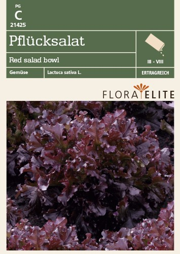 Salatsamen - Pflücksalat Red salad bowl von Flora Elite [MHD 06/2018]