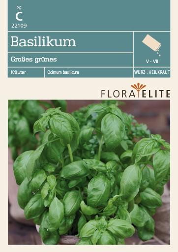 Basilikum Großes grünes | Basilikumsamen von Flora Elite [MHD 06/2019]