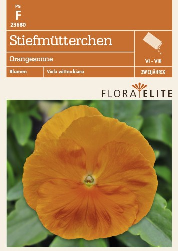 Stiefmütterchen Orangesonne | Stiefmütterchensamen von Flora Elite [MHD 06/2018]