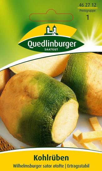 Steckrübe Grünköpfige gelbe Wilhelmsburger   Rübensamen von Quedlinburger