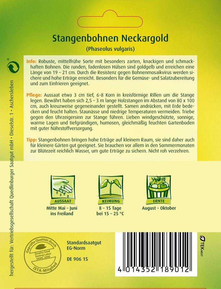 Quedlinburger Neckargold Stangenbohnen
