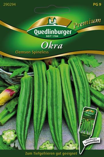 Okra Clemson Spineless | Okrasamen von Quedlinburger