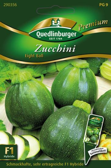 Zucchini Eight Ball von Quedlinburger Saatgut