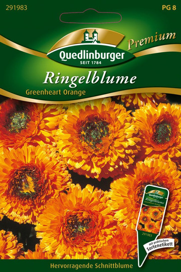 Ringelblumen Greenheart orange von Quedlinburger Saatgut