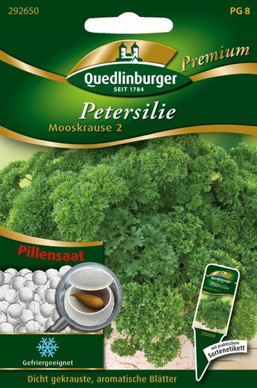 Pillensaat Petersilie Mooskrause 2 von Quedlinburger Saatgut [MHD 01/2019]
