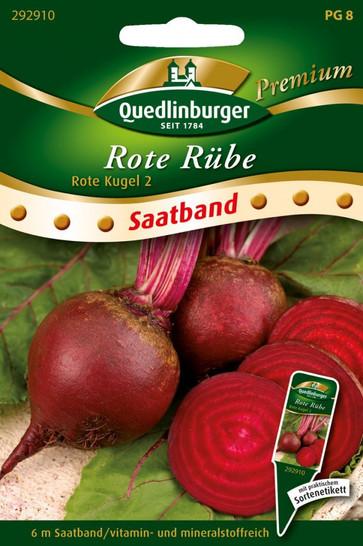 Rote Bete Rote Kugel 2 (Saatband)   Rübensamen von Quedlinburger