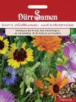 Wildblumen- und Kräuterwiese mit Gräsern 125m² | Blumenwiese von Dürr Samen