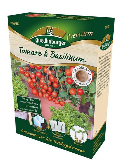 Anzuchtset Tomate & Basilikum von Quedlinburger Saatgut [MHD 01/2020]