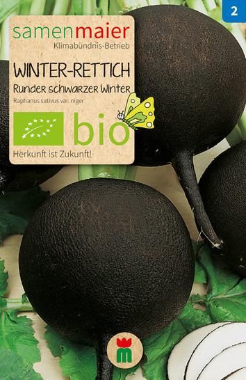 Winter-Rettich Runder schwarzer   Bio-Rettichsamen von Samen Maier