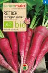 Rettich Ostergruß rosa 2 | Bio-Rettichsamen von Samen Maier