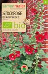 Stockrose (Bauernrose) einfache dunkelrot | Bio-Stockrosensamen von Samen Maier