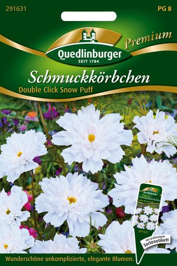 Cosmea Double Click Snow Puff | Cosmeasamen von Quedlinburger