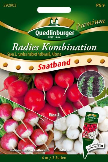 Radies Kombi Saxa & Albena (Saatband) | Radieschensamen von Quedlinburger