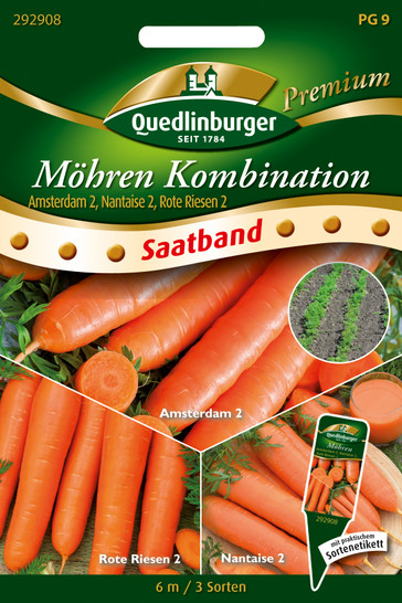 Möhre früh mittel spät (Saatband) | Möhrensamen von Quedlinburger