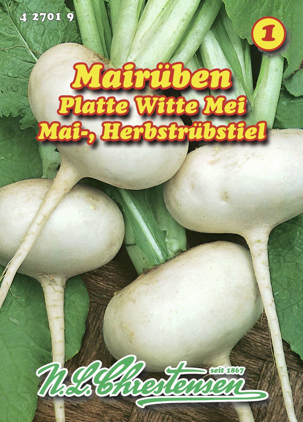 Quedlinburger Mairübe Platte witte Mei