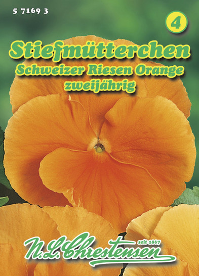 Stiefmütterchen Schweizer Riesen Orange | Stiefmütterchensamen von N.L. Chrestensen