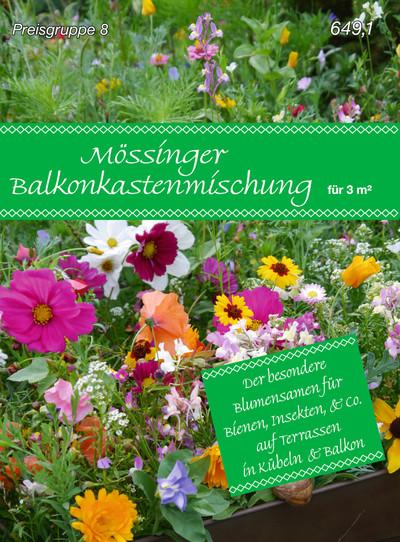 Mössinger Balkonkastenmischung für 3 m² | Blumenwiese von Samen Fetzer
