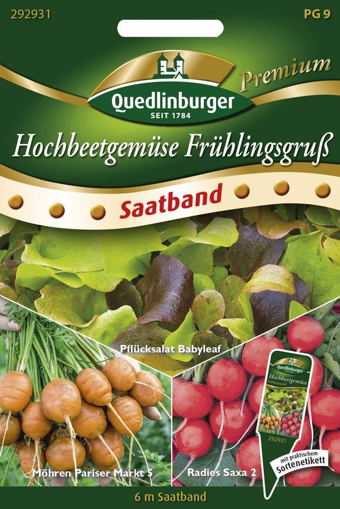 Radies Pflücksalat Möhren Set Saatteppich Quedlinburger Premium Saatgut