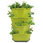 Paul Potato Kartoffelturm Starter Set grün (4 Etagen) | Kartoffeltürme von Gusta Garden