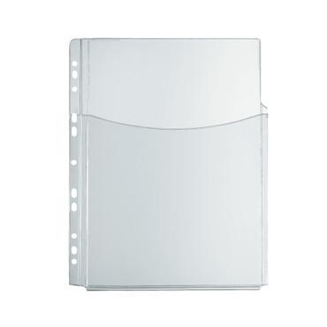 Katalog-Tasche A4 PVC transparent, Eurolochung, PVC, glasklar, 0,300 mm
