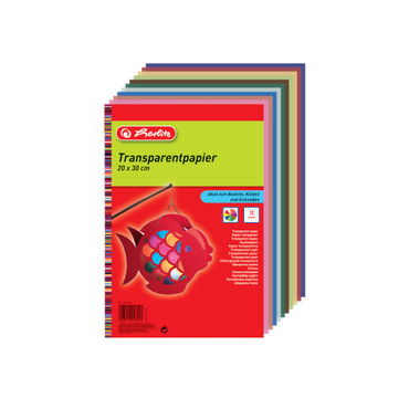 Millimeter-Transparentpapier, farbig, 10 Blatt