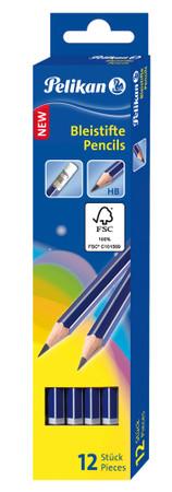 Bleistift, Härtegrad HB mit Radierer, Faltschachtel mit 12 Stück