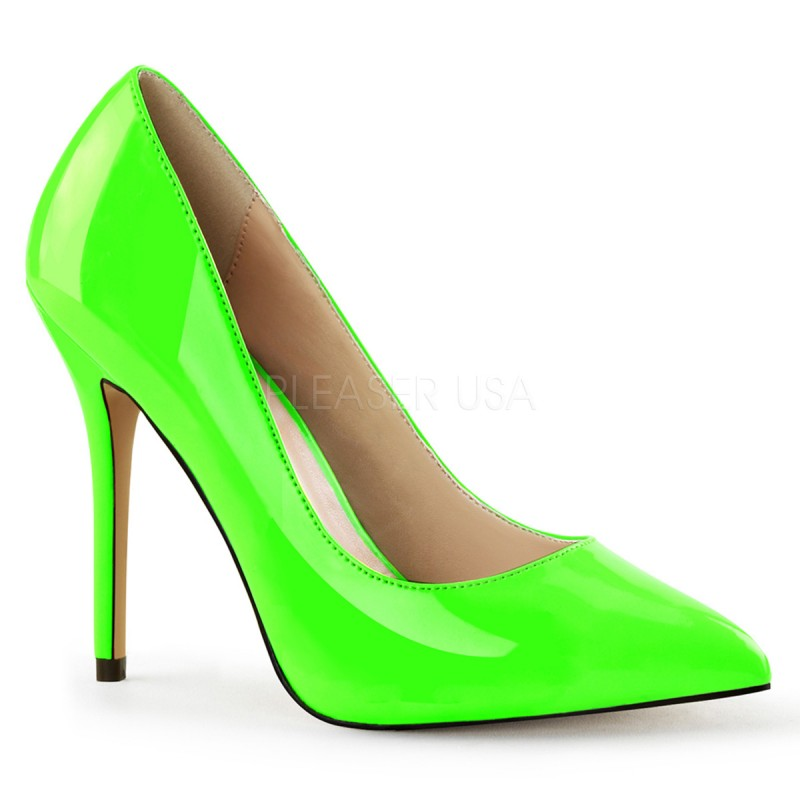 Pleaser - Amuse-20 - Stiletto Pumps - Lack - Neon Grün