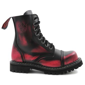 Angry Itch - 8-Loch Gothic Punk Army Ranger Armee Pink Rub-Off Leder Stiefel mit Stahlkappe 36-48 - Made in EU! - Thumb 2