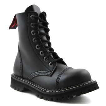 Angry Itch - 8-Loch Boots Vegan Schwarz - Thumb 1