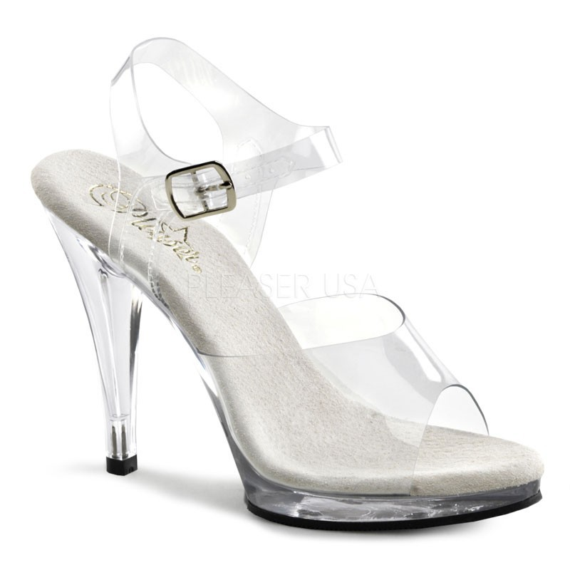 Fabulicious Flair-408 - sexy High Heels Mini-Plateau Sandaletten 35-48
