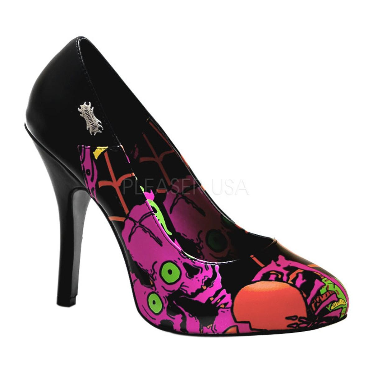 Demonia Zombie-02 - Gothic Punk Industrial Motiv-Print Schuhe 36-43