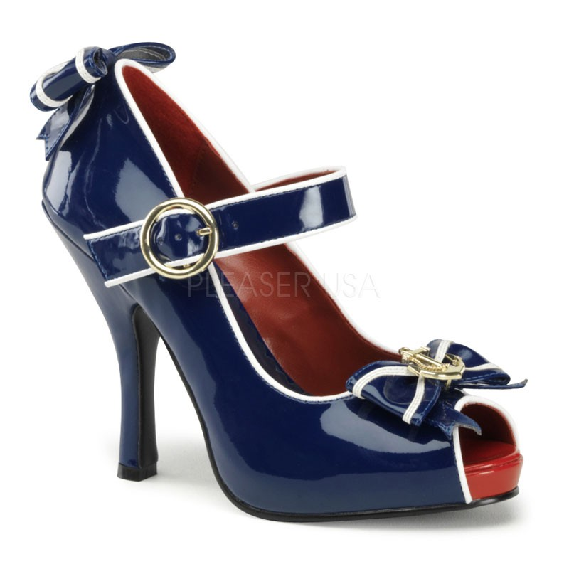 Funtasma ANCHOR-22 - Karneval Fasching Halloween Kostüm Schuhe maritim blau