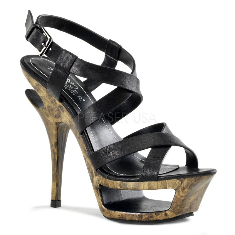 Pleaser Day & Night - Deluxe-636 - Sexy edle Plateau High Heels Sandaletten 35-40